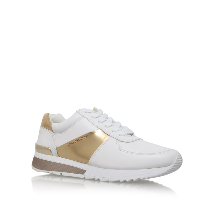 Allie Trainer Gold Flat Low Top Trainers By Michael