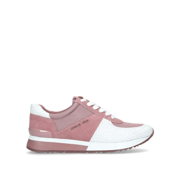 81fe006d2180 Allie Trainer Pink And White Low Top Trainers By Michael Michael Kors