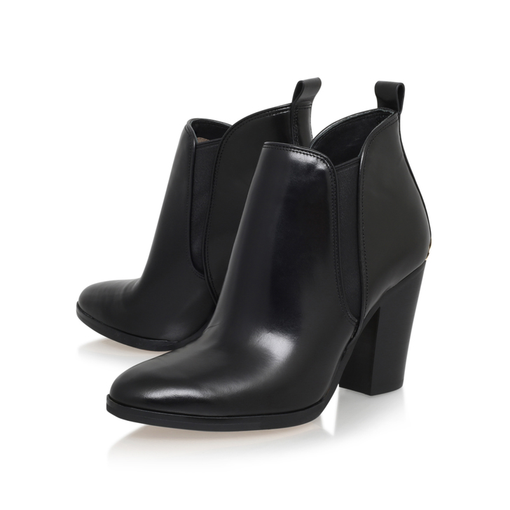 f2f3fb90b330 Brandy Bootie Black Mid Heel Ankle Boots By Michael Michael Kors ...