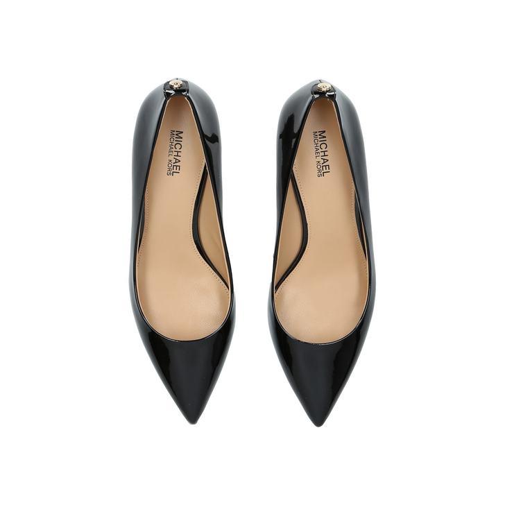 84d400d1dd59 Mk Flex Kitten Pump Black Mid Heel Court Shoes By Michael Michael Kors