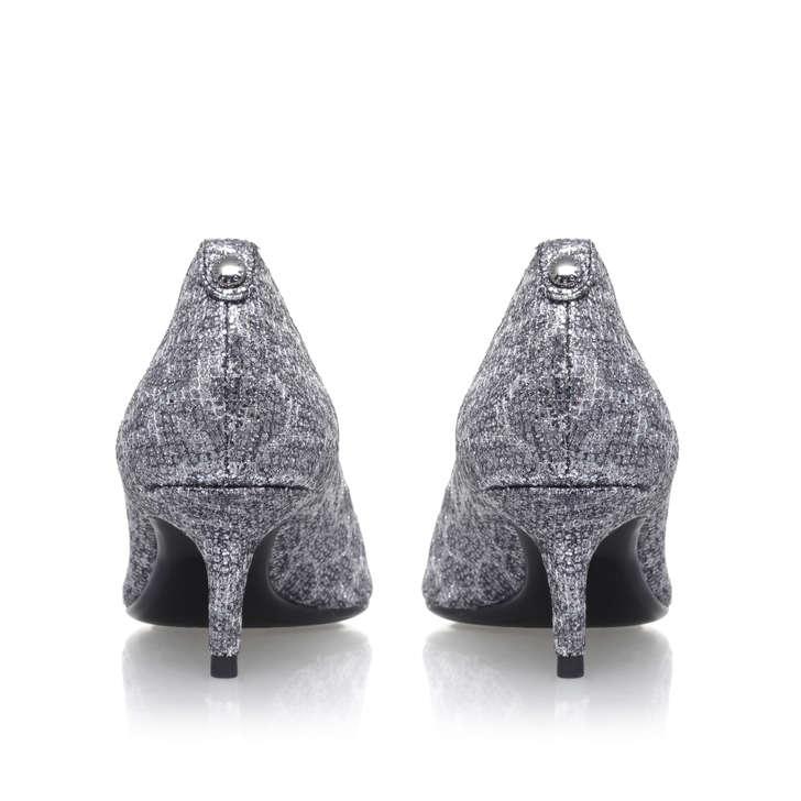 f372fded661 Mk Flex Kitten Pump Silver Mid Heel Court Shoes By Michael Michael Kors
