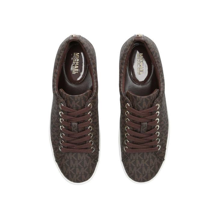 Keaton Sneaker Brown Low Top Trainers By Michael Michael Kors   Kurt Geiger