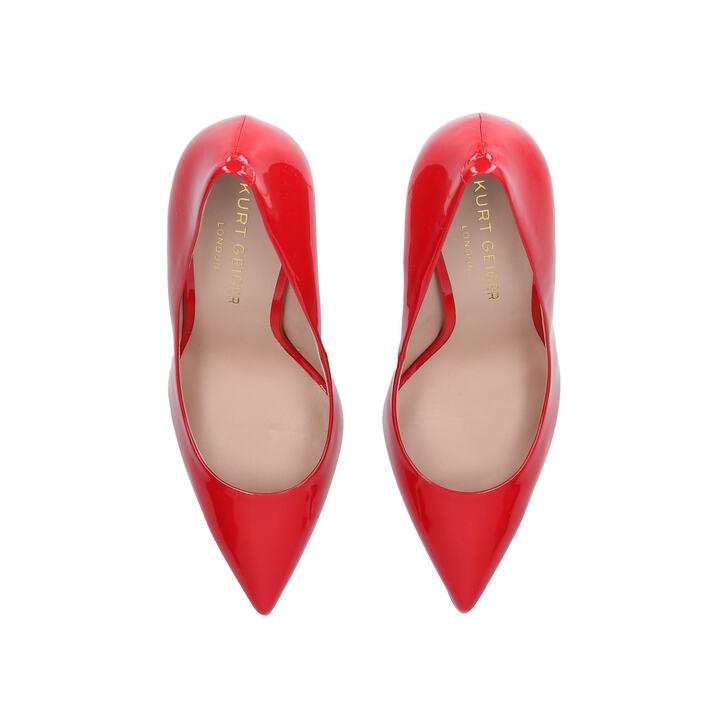e5006fb6d0d Britton Red High Heel Court Shoes By Kurt Geiger London | Kurt Geiger