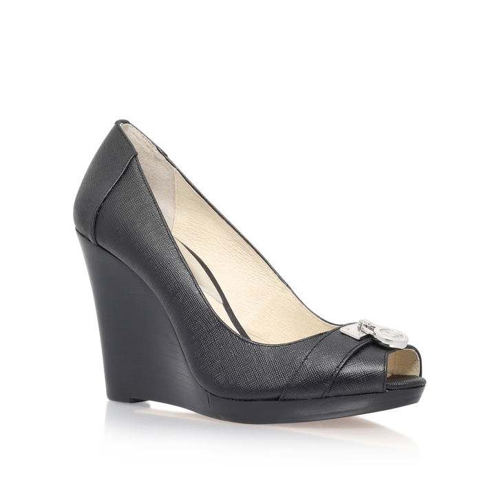 d334fbe4ca46 Hamilton Wedge Black High Heel Wedge Shoes By Michael Michael Kors ...