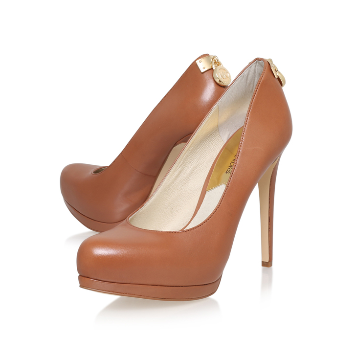 57e40bca5c9 Hamilton Pump Tan High Heel Court Shoes By Michael Michael Kors ...