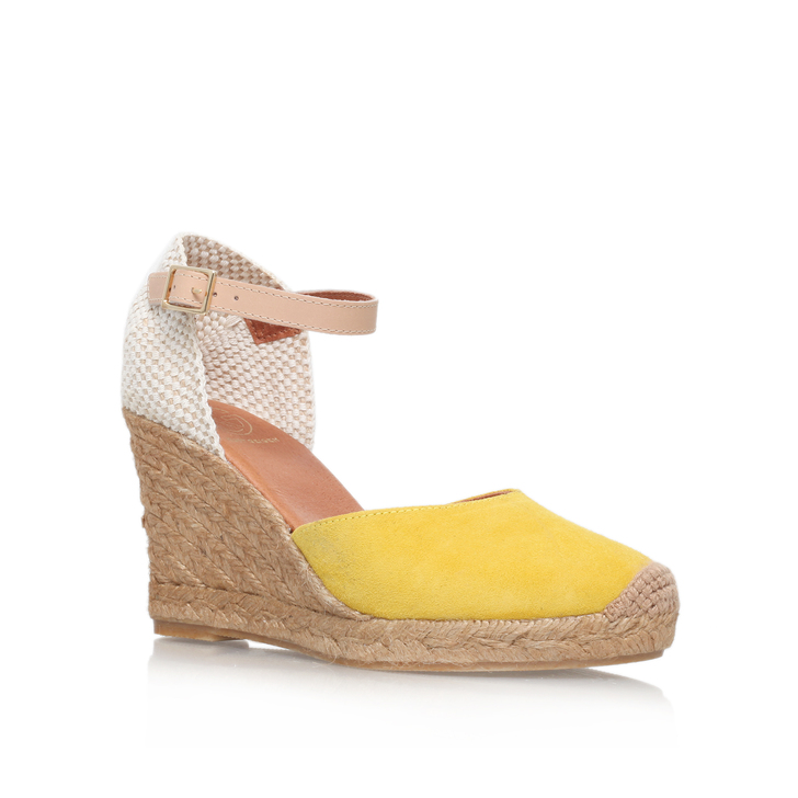 Monty Yellow Mid Heel Wedge Shoes By Kg Kurt Geiger Kurt