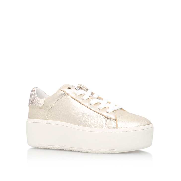 0647c7bde278 Cult Gold Flat Low Top Trainers By Ash