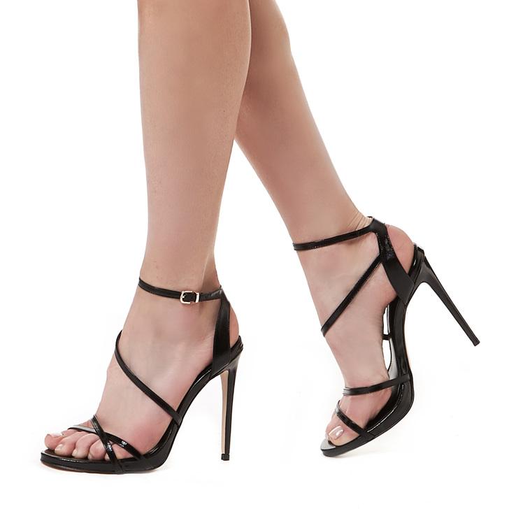 56a0f16a385f Georgia Black High Heel Sandals By Carvela