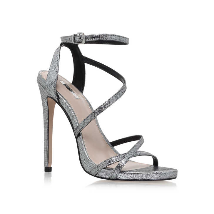 4dbb9429fe3 Georgia Silver High Heel Sandals By Carvela