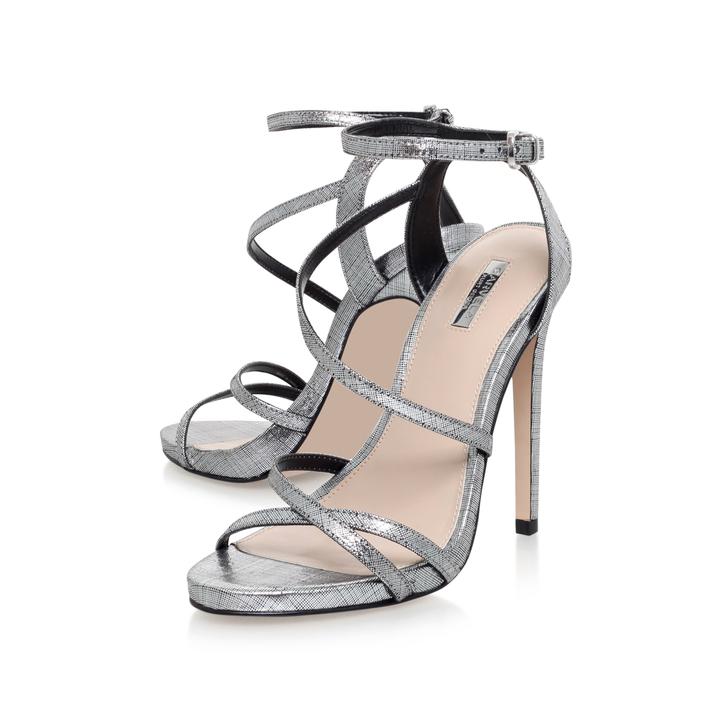 f953fe281707 Georgia Silver High Heel Sandals By Carvela