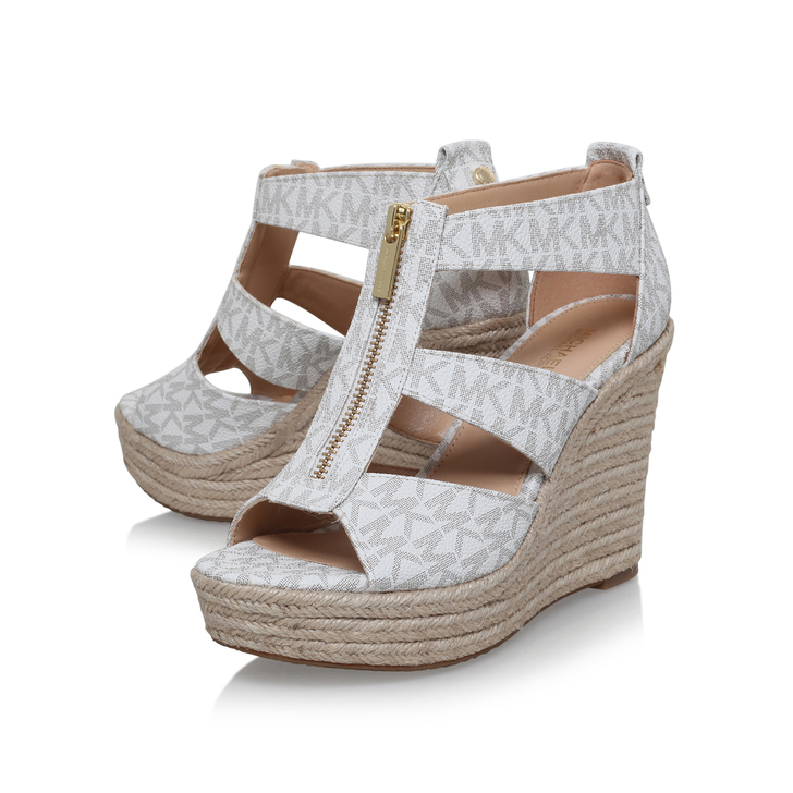 0c5cd43552d5 Damita Wedge White High Heel Sandals By Michael Michael Kors ...
