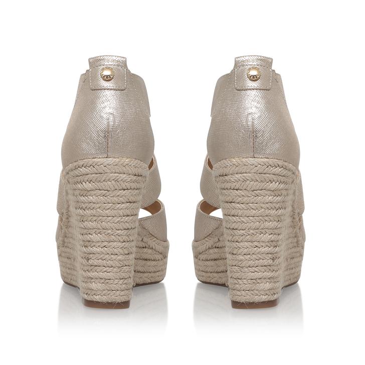 ca54c1868884 Damita Wedge Gold High Heel Wedge Sandals By Michael Michael Kors ...