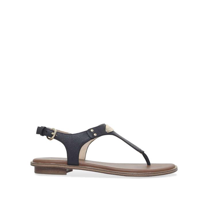 e0fcd95d1 Mk Plate Thong Black Flat Sandals By Michael Michael Kors | Kurt Geiger