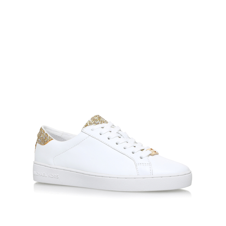 Irving Lace Up White Low Top Trainers By Michael Michael Kors   Kurt ... 1bac8b458e04
