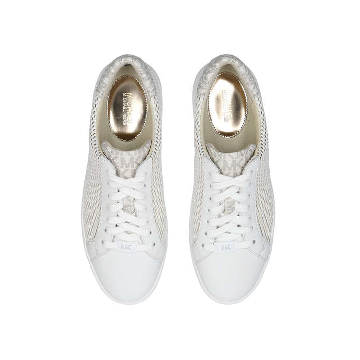 Irving Lace Up Metallic Gold Low Top Trainers By Michael