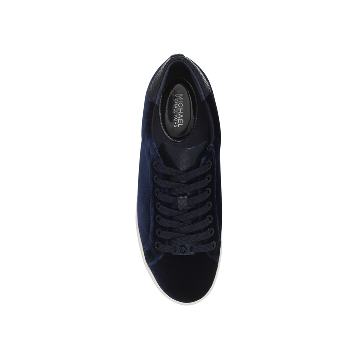 32ecfbf6c41 Irving Lace Up Navy Flat Lace Up Trainers By Michael Michael Kors ...
