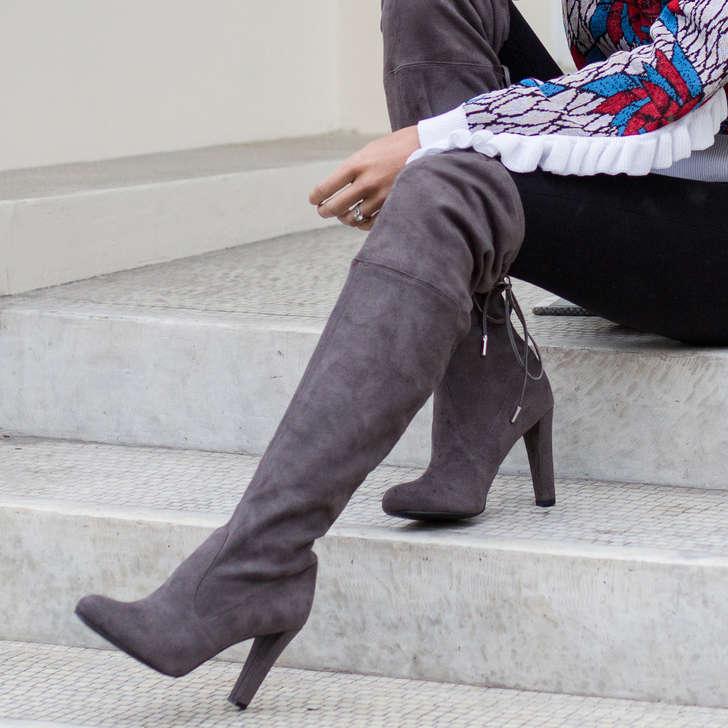8b52b6c64a7 Sammy Grey High Heel Over The Knee Boots By Carvela | Kurt Geiger