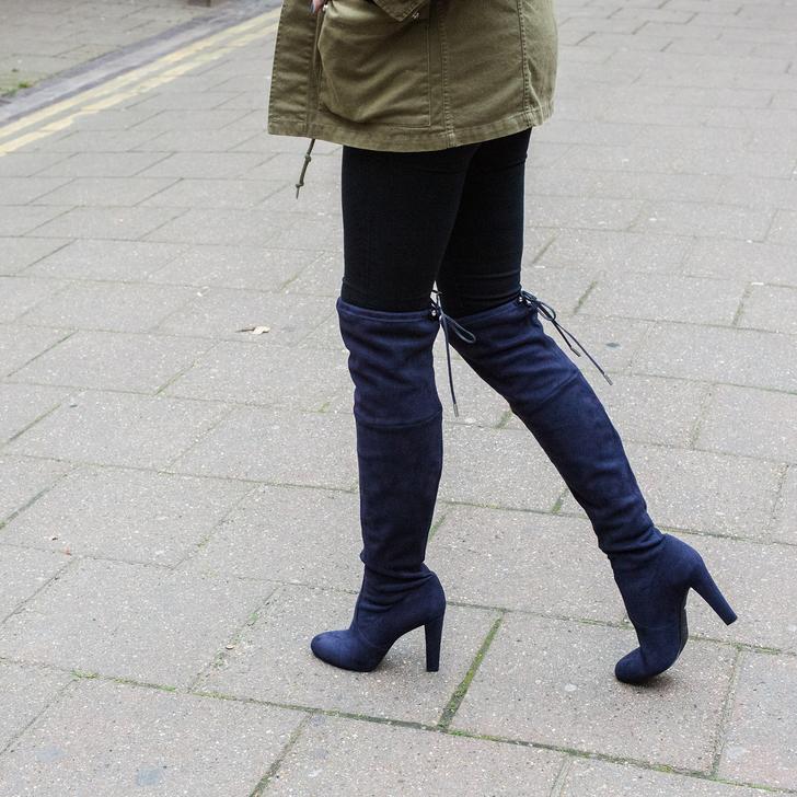 494b54b7fb3 Sammy Navy High Heel Over The Knee Boots By Carvela | Kurt Geiger
