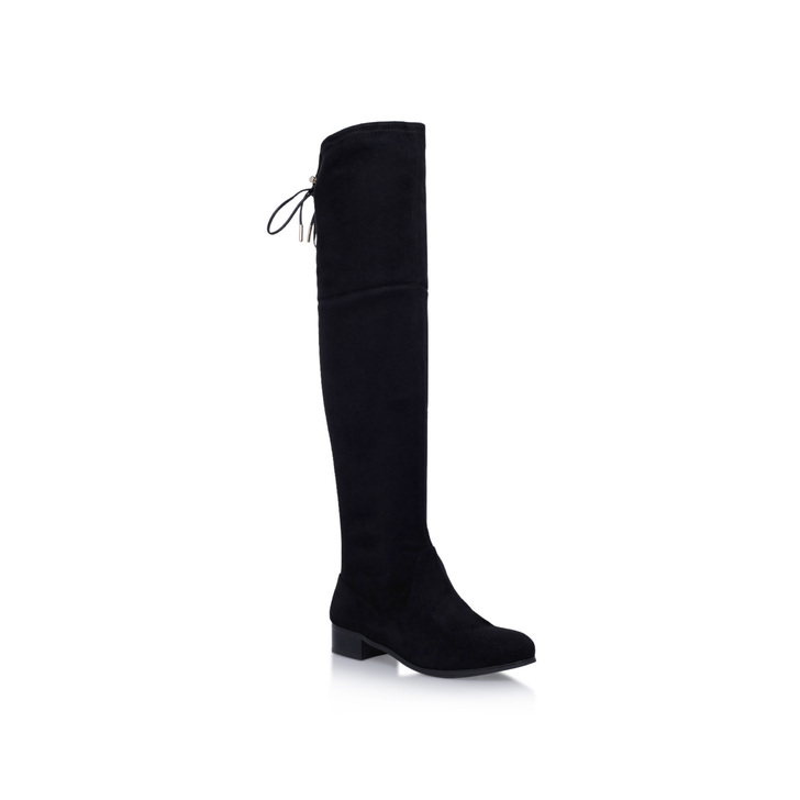 Supper Black Low Heel Over The Knee Boots By Carvela Kurt Geiger ...