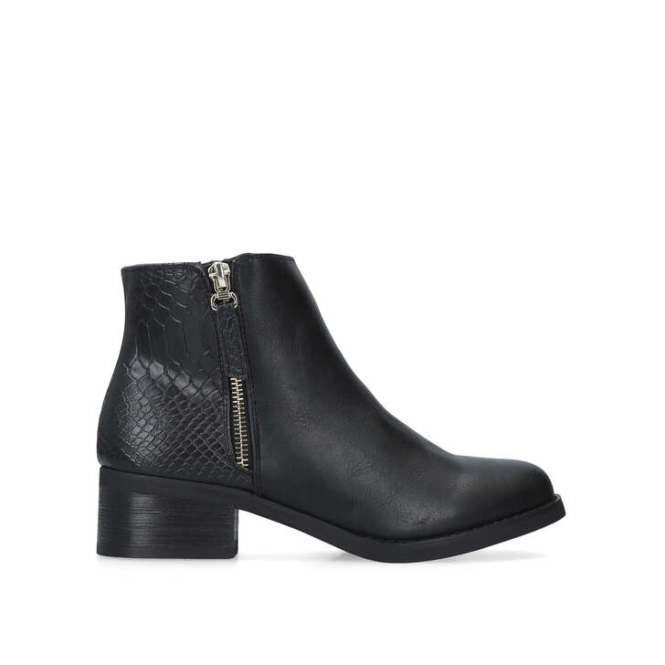 Janice Black Flat Ankle Boots By Miss KG | Kurt Geiger
