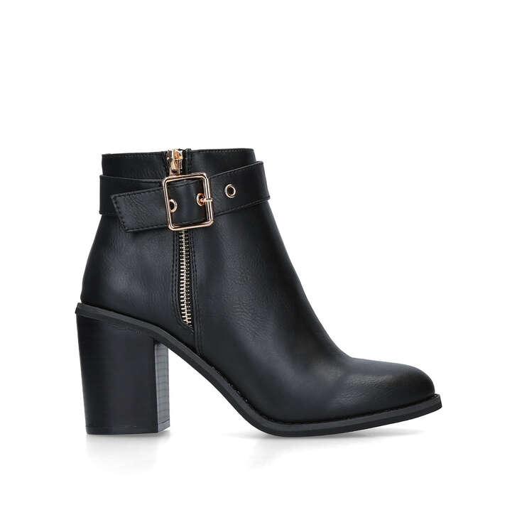 d65636da799 Janelle Black Mid Heel Ankle Boots By Miss KG | Kurt Geiger