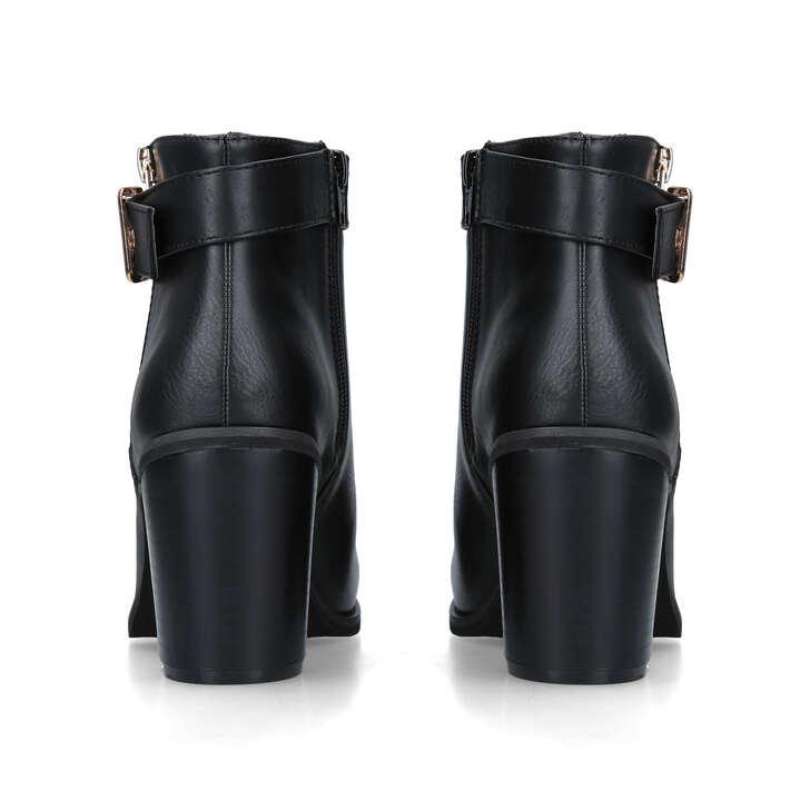 8e3a23446fe JANELLE Black Mid Heel Ankle Boots by MISS KG | Kurt Geiger