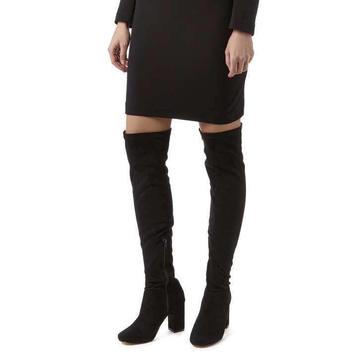 Vegas Black High Heel Over The Knee Boots By Miss KG | Kurt Geiger
