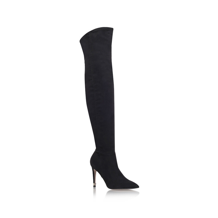 917add0f6367ad Willow Black High Heel Over The Knee Boots from Miss KG