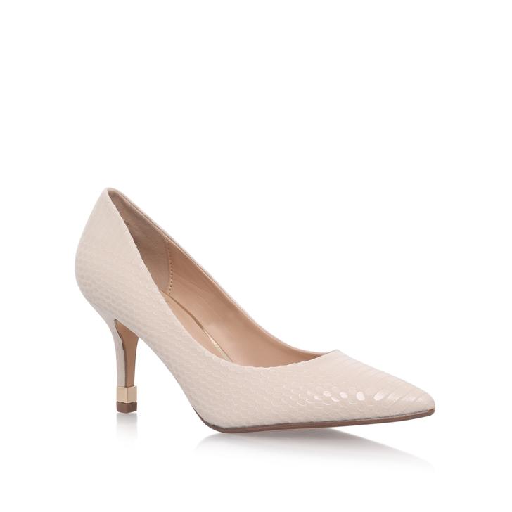 Evie Nude Mid Heel Court Shoes By KG Kurt Geiger | Kurt Geiger
