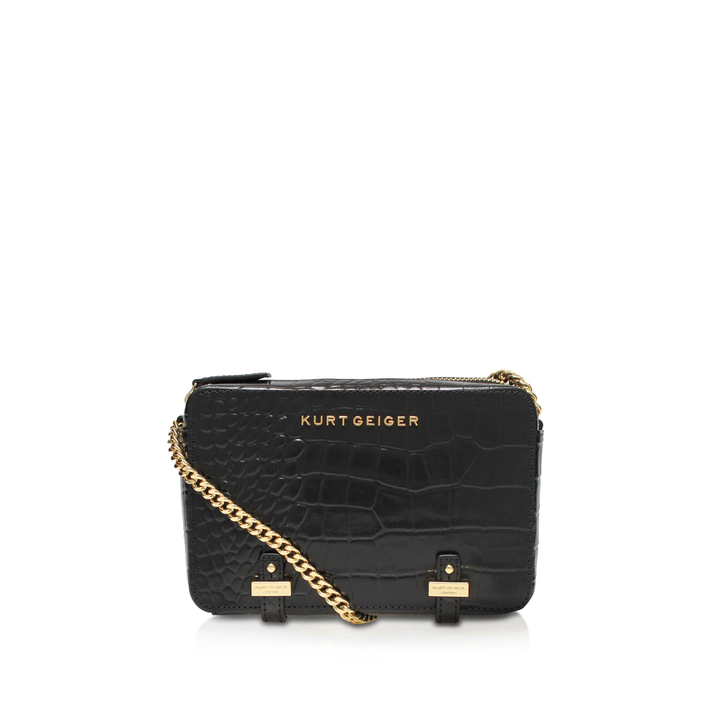 Croc Abbey Crossbody Black Crossbody Bag By Kurt Geiger