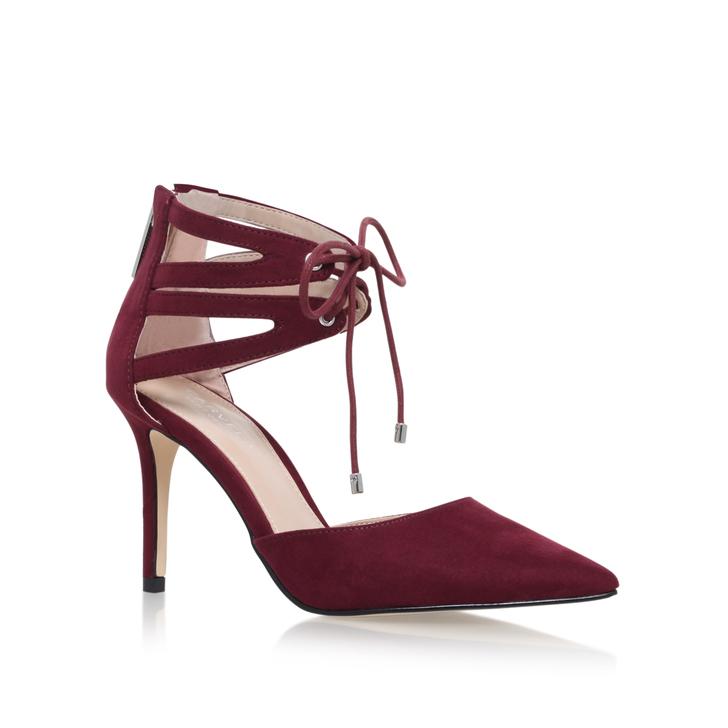 Krisp Wine Mid Heel Court Shoes By