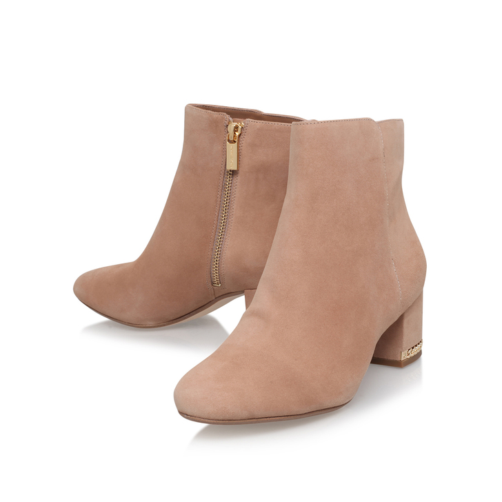 5cb5e0fb196ef Sabrina Mid Bootie Beige Mid Heel Ankle Boots By Michael Michael Kors