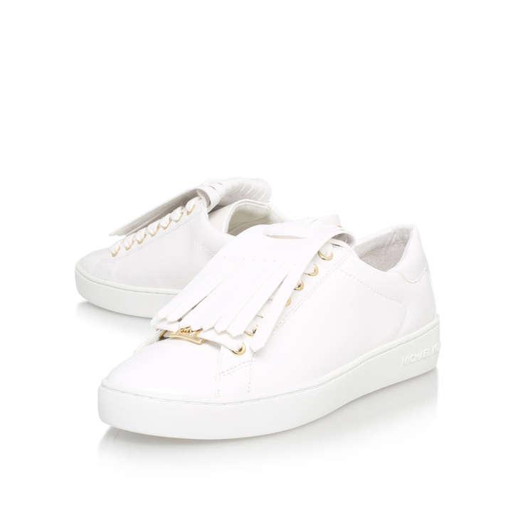 c8ecb101acfd Keaton Kiltie Sneaker White Flat Low Top Trainers By Michael Michael Kors