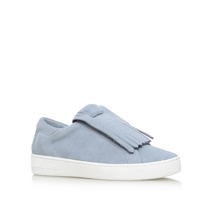 0db79f32f65e Keaton Kiltie Sneaker Blue Flat Lace Up Trainers By Michael Michael Kors