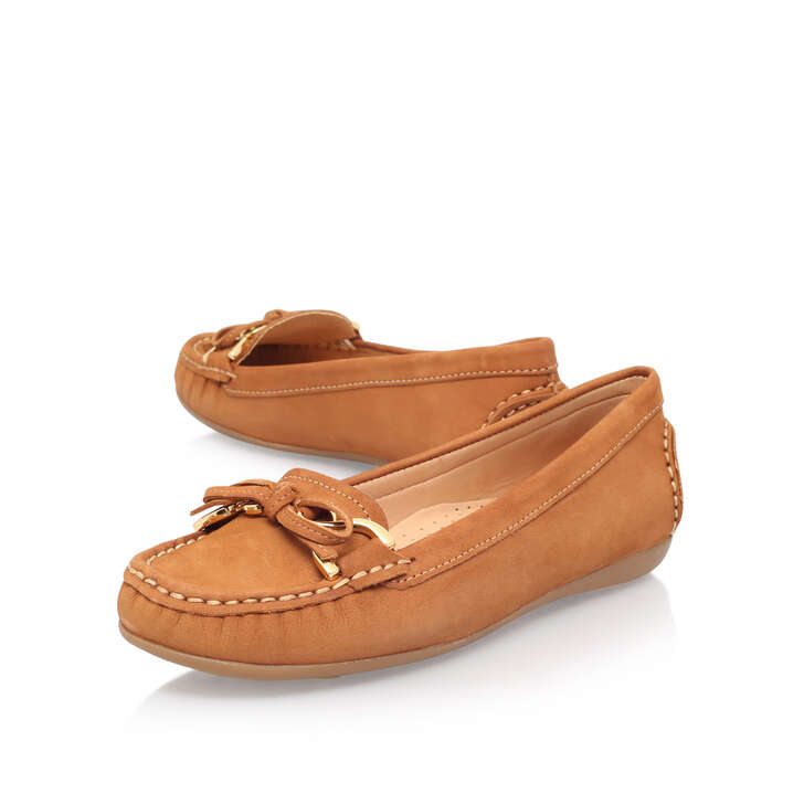 5f14cbfc6 Cally Tan Flat Loafer Shoes By Carvela Comfort