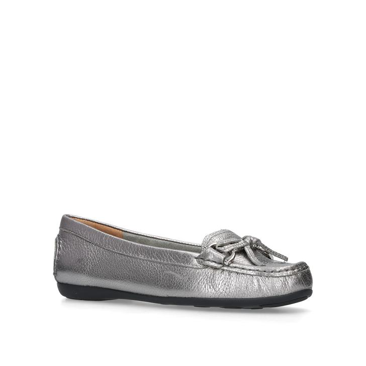 eb4482f7a Cally Metallic Leather Loafers By Carvela Comfort