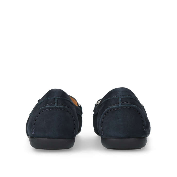 Cally Navy Flat Loafers By Carvela