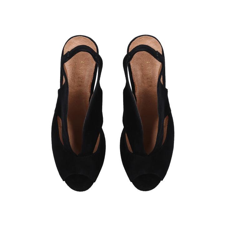 ac6aeeb3b6 Arabella Black Mid Heel Sandals By Carvela Comfort | Kurt Geiger
