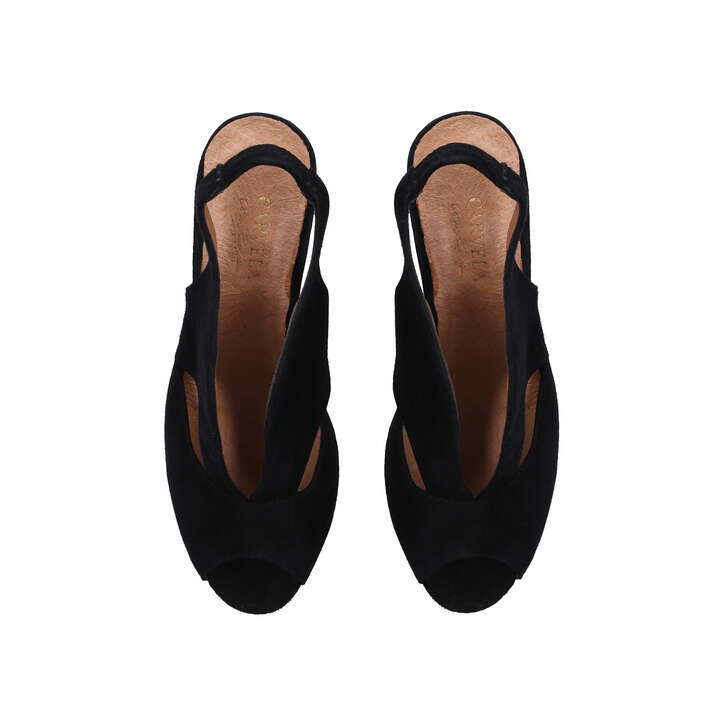 50a6367825d Arabella Black Mid Heel Sandals By Carvela Comfort