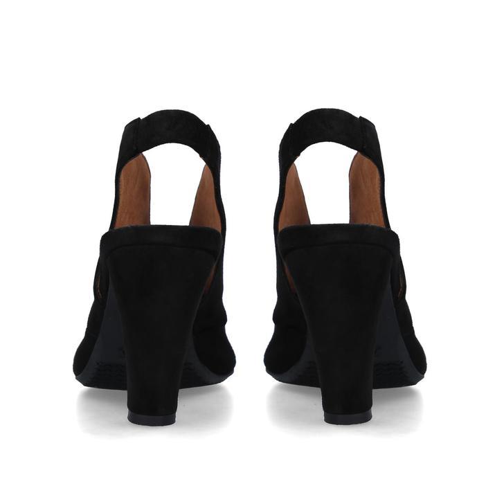 Arabella Black Suede Block Heel Sandals