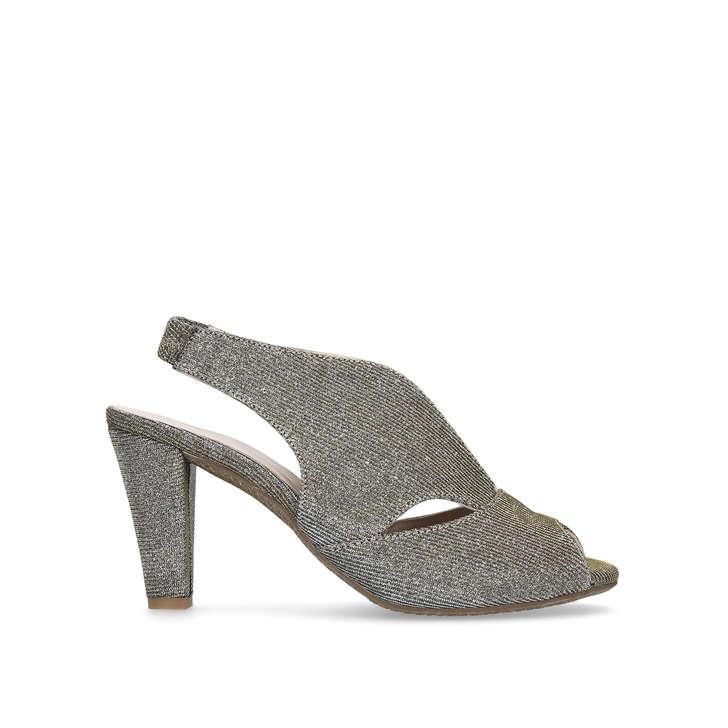 Arabella. Metallic Mid Heel Sandals