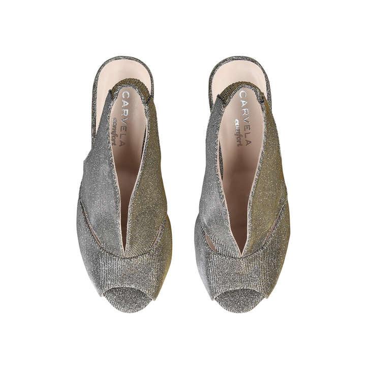 7eb78384561 Arabella Metallic Mid Heel Sandals By Carvela Comfort