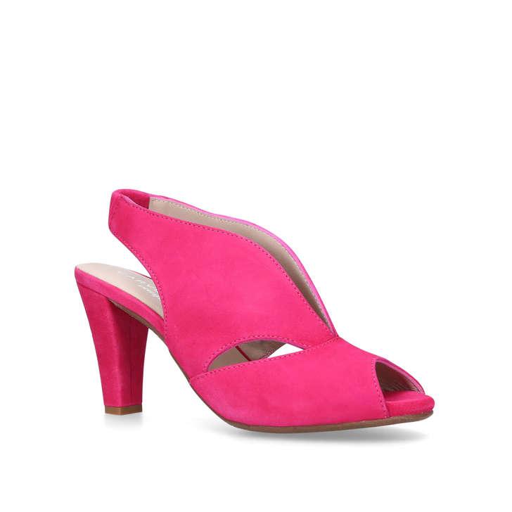b517b416a83f Arabella Pink Mid Heel Sandals By Carvela Comfort