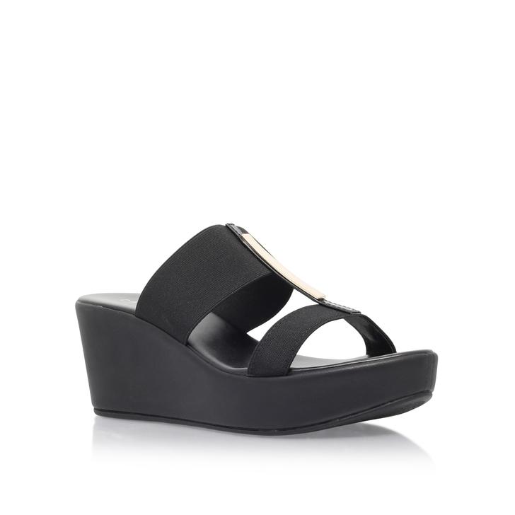 aaaccc1f9321 Sapphire Black Mid Heel Sandals By Carvela Comfort