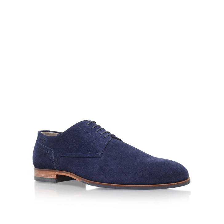 Hb C-moder Derby Navy Brogue Shoes By