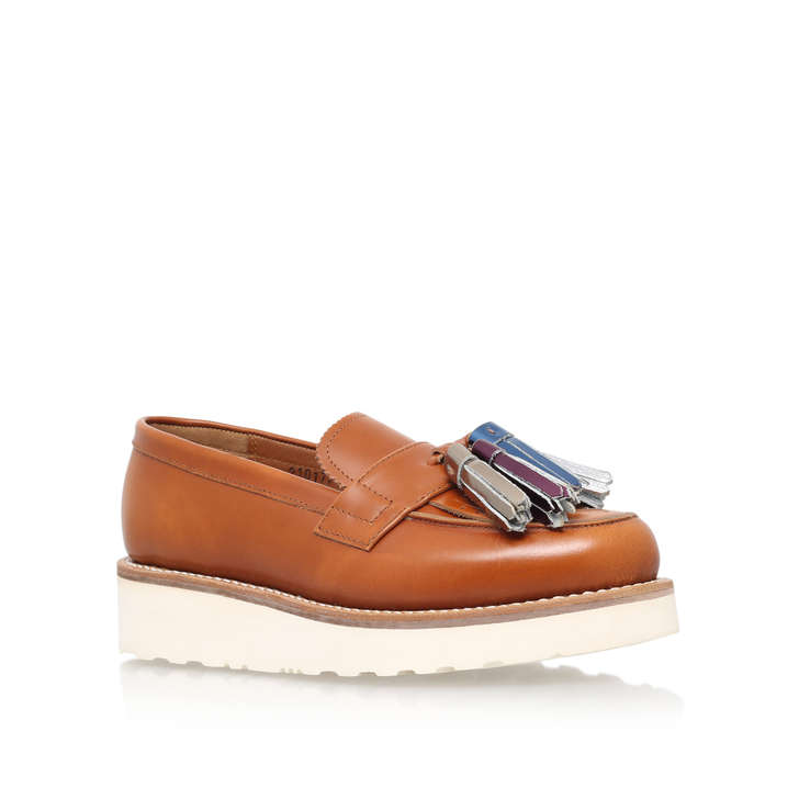5a062144052 Clara Multi Tassle Tan Flat Loafers By Grenson