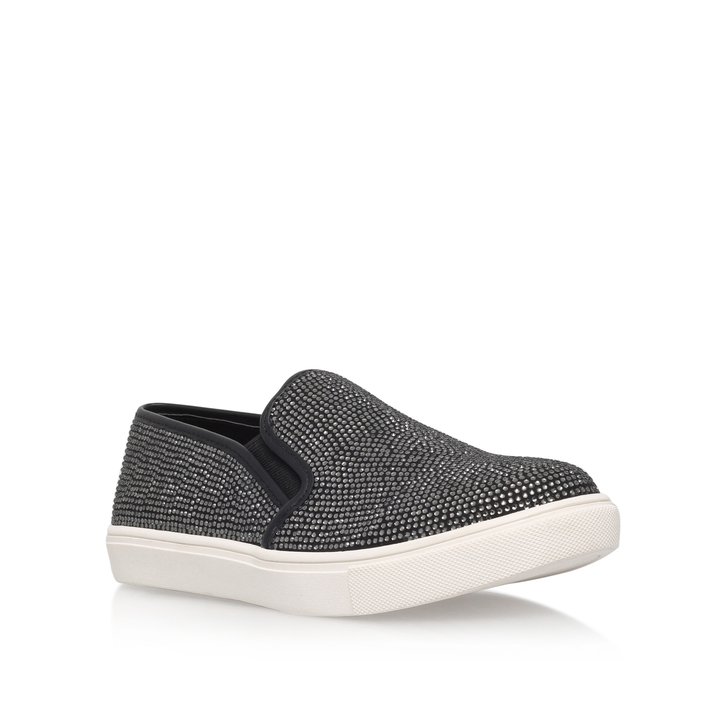 Jamie Black Flat Low Top Trainers By