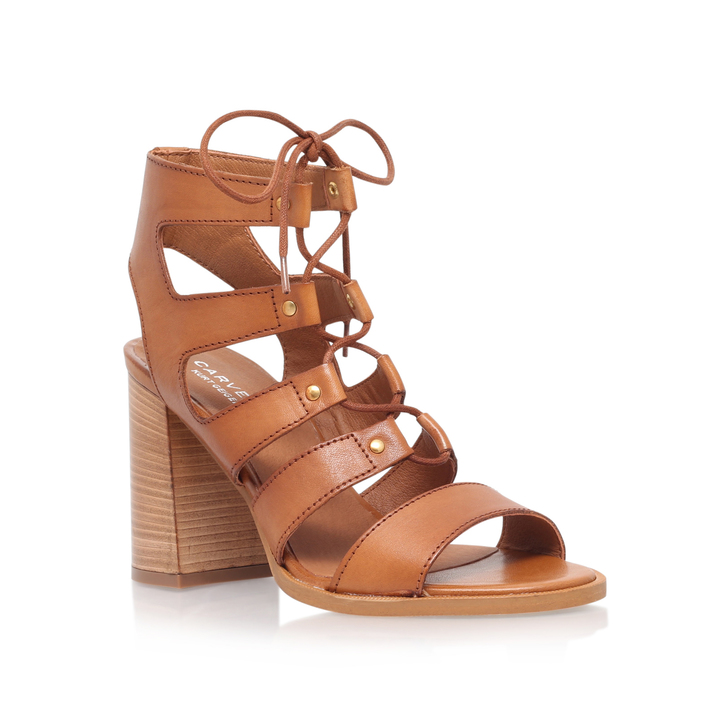 6cbdf1de715 Kandice Tan Mid Heel Sandals By Carvela