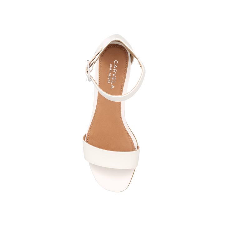 46ed11c35050 Shadow White Mid Heel Sandals By Carvela