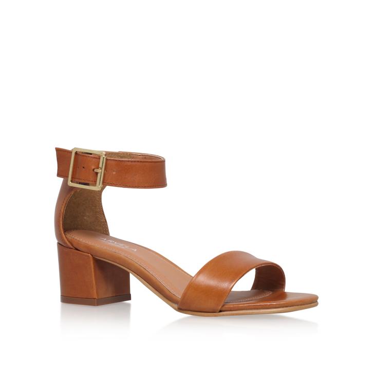 Shadow Tan Mid Heel Sandals By Carvela Kurt Geiger